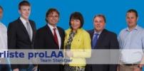 nach erfolgreicher Arbeitssitzung: das fast komplette neue proLAA-Team