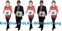Kreative proLAA-Wahlwerbung